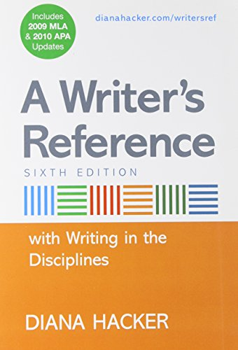 9780312664787: A Writer's Reference with Writing in the Disciplines with 2009 MLA and APA Updates