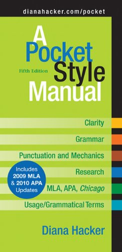 9780312664800: A Pocket Style Manual: Includes 2009 Mla & 2010 Apa Updates