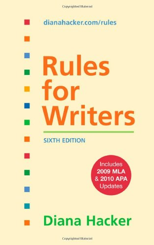 9780312664817: Rules for Writers with 2009 MLA and 2010 APA Updates