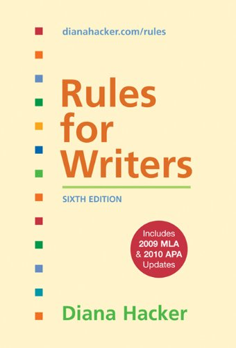 9780312664824: Rules for Writers with Tabs with 2009 MLA and 2010 APA Updates