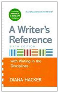 9780312668082: Writer's Reference with Help for Writing Across the Disciplines with 2009 MLA and APA Updates & Research Pack