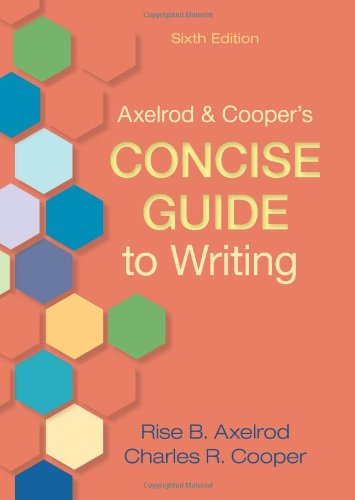 9780312668907: Axelrod & Cooper's Concise Guide to Writing