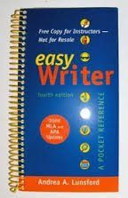 9780312670771: EasyWriter 4e with 2009 MLA and 2010 APA Updates & Top Twenty Quick Reference Card
