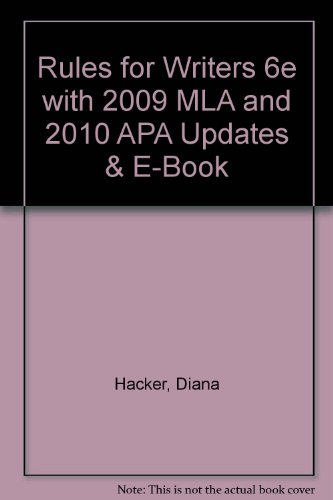 9780312672317: Rules for Writers 6e with 2009 MLA and 2010 APA Updates & E-Book