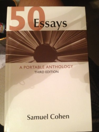50 Essays : A Portable Anthology by Samuel Cohen (2013, Paperback)