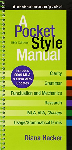 9780312674656: Pocket Style Manual 5e with 2009 MLA and 2010 APA Updates & MLA Quick Reference Card & APA Quick Reference Card