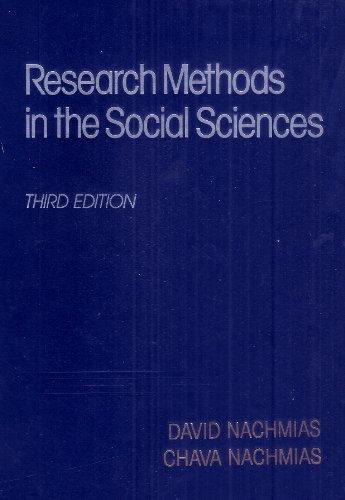 Research methods in the social sciences: David Nachmias