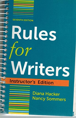 Rules for Writers (Instructor's Edition): Diana Hacker Nancy