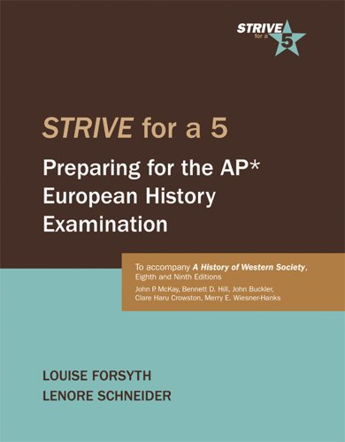 9780312688615: Strive for a 5: Preparing for the AP European History Examination