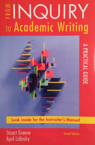 9780312692339: From Inquiry to Academic Writing