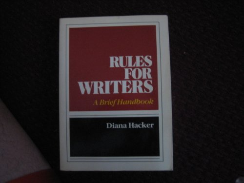 9780312695859: Rules for writers: A brief handbook