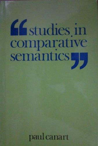 9780312770877: Studies in Comparative Semantics