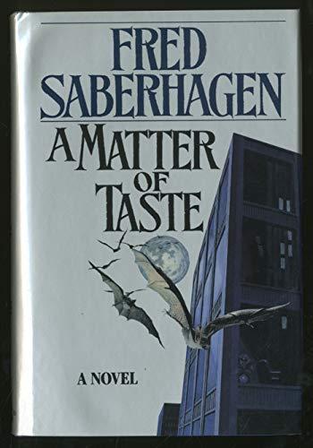 9780312850463: A Matter of Taste (Tor Horror)