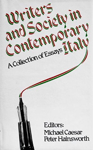 9780312893507: Writers and Society in Contemporary Italy: A Collection of Essays