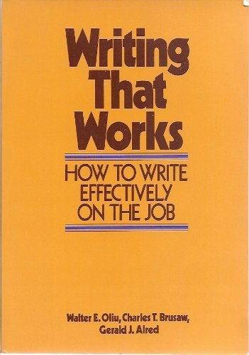 9780312895044: Writing that works : how to write effectively on the job