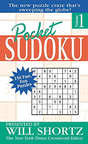 9780312967086: Pocket Sudoku Presented by Will Shortz, Volume 1: 150 Fast, Fun Puzzles