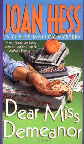 9780312973131: Dear Miss Demeanor (Claire Malloy Mysteries, No. 3)