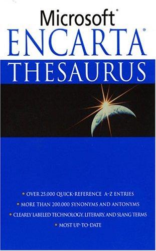 9780312983635: Microsoft Encarta Thesaurus
