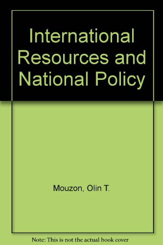 9780313200694: International Resources and National Policy