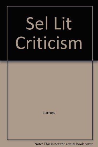 9780313203893: Sel Lit Criticism