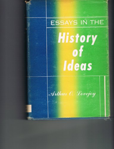 9780313205040: Essays in the History of Ideas.