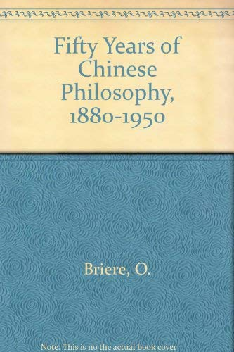 9780313206504: Fifty Years of Chinese Philosophy, 1898-1950.