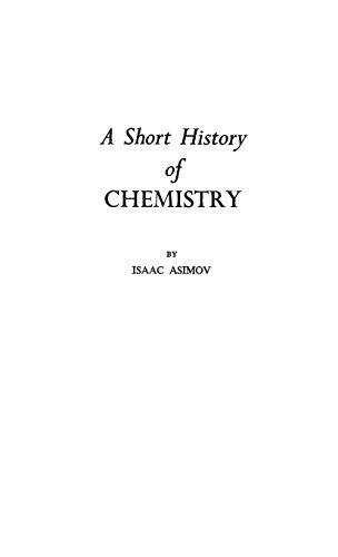 9780313207693: A Short History of Chemistry (Science Study Series)