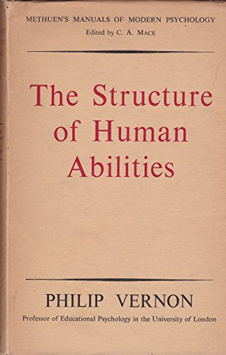9780313208041: The Structure of Human Abilities.