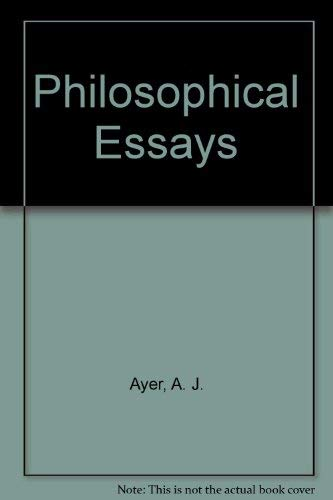 Philosophical Essays (0313209022) by Ayer, Alfred Jules