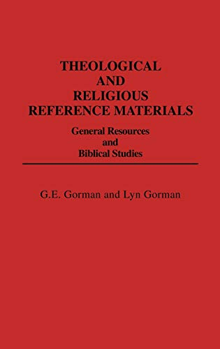 9780313209246: Theological and Religious Reference Materials: General Resources and Biblical Studies (Bibliographies and Indexes in Religious Studies)