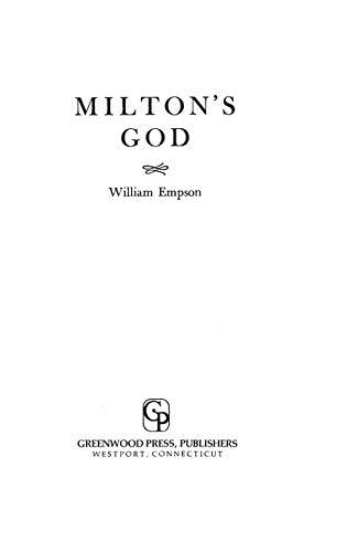 9780313210211: Milton's God