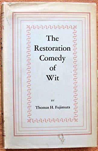 9780313212321: Restoration Comedy of Wit
