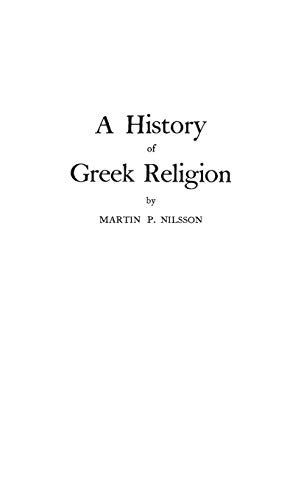 9780313224669: A History of Greek Religion
