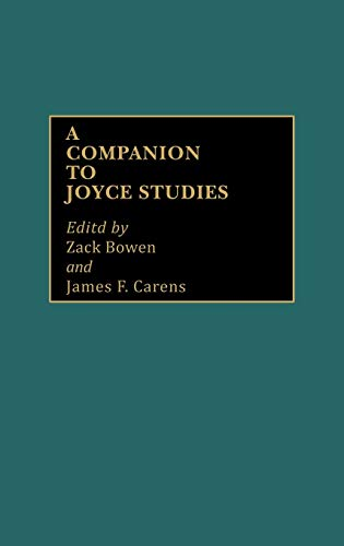 9780313228322: A Companion to Joyce Studies