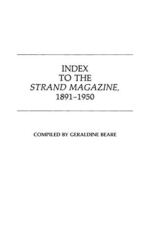 9780313231223: Index to the Strand Magazine, 1891-1950.: Index, 1891-1950