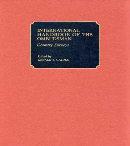 9780313237164: International Handbook of the Ombudsman: Vol. 2