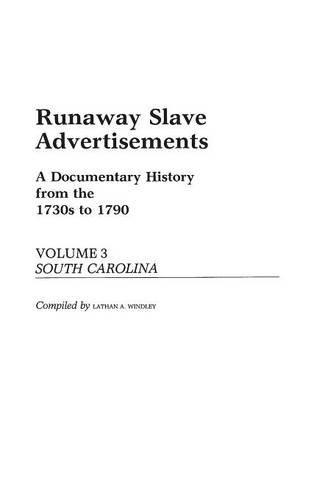 Runaway Slave Advertisements: Vol 3, a Documentary: Windley, Lathan A.