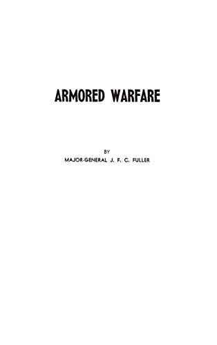 9780313240676: Armored Warfare: An Annotated Edition of Lectures on F. S. R. III (Operations between Mechanized Forces)
