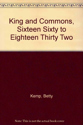 King and Commons, 1660--1832: Kemp, Betty