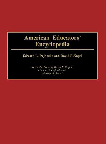9780313252693: American Educators' Encyclopedia, 2nd Edition