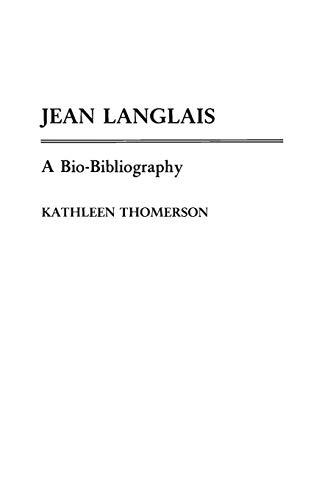 9780313255472: Jean Langlais: A Bio-Bibliography (Bio-Bibliographies in Music)