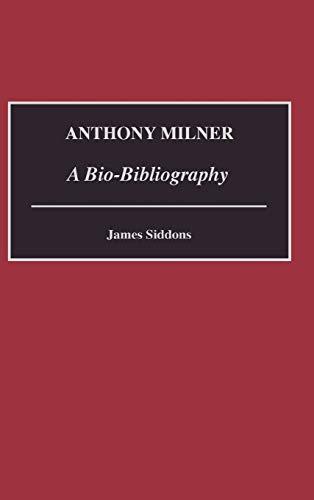 Anthony Milner: A Bio-Bibliography: Siddons, James
