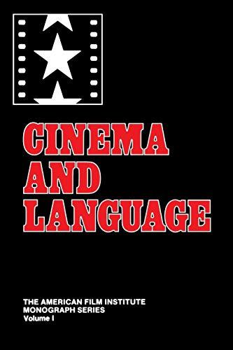 9780313270048: Cinema and Language (American Film Institute Monograph Series)