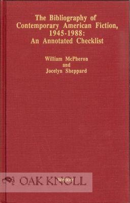 9780313277023: Bibliography of Contemporary American Fiction, 1945-1988: An Annotated Checklist