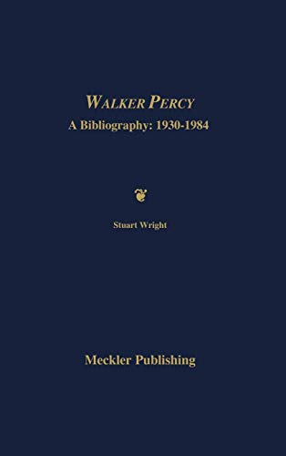 9780313277092: Walker Percy: A Bibliography