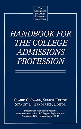 9780313291135: Handbook for the College Admissions Profession
