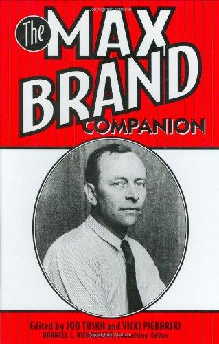 9780313297502: The Max Brand Companion: