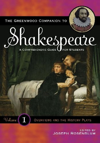 Greenwood Companion to Shakespeare : A Comprehensive Guide for Students (4 Vols-Set): Joseph ...