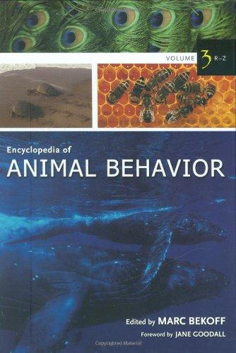 Encyclopedia Of Animal Behavior, Vol. 3: R-Z