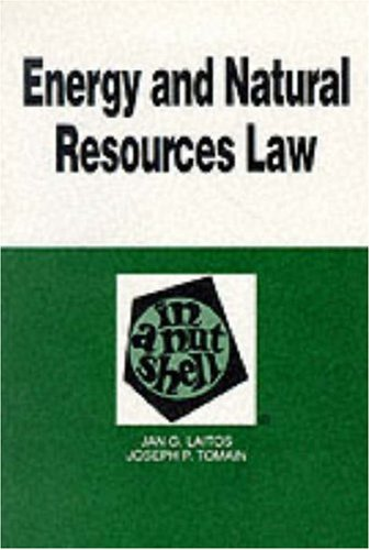 Energy and Natural Resources Law in a: Tomain, Joseph P.